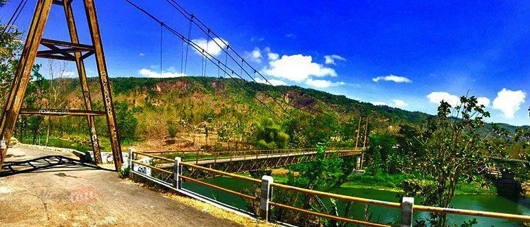Protret Jembatan Soka Pundong Bantul Sebelum Banjir