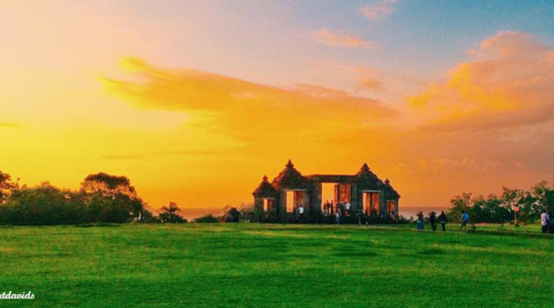 Panorama Sunset di Candi Ratu Boko