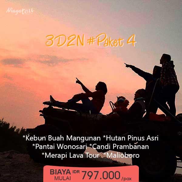 Paket Wisata Yogyakarta 3 Hari 2 Malam - Paket 4