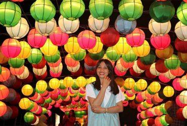 Taman Pelangi Monjali, Wisata Malam dengan Berbagai Macam Lampion yang Berwarna- Warni